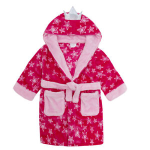 Details about Girls Fairy Princess Soft Fleece Hooded Dressing Gown with  Wings ~ 2-6 Years 96d8cd8a1
