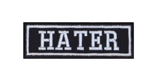 Hater Biker Patch ricamate Rocker tonaca MOTO MC BADGE Vest diss FTW Life v2