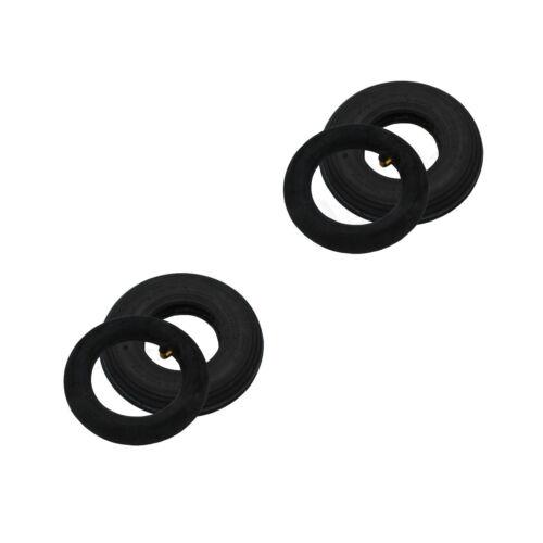 Schlauch 200x50 8x2 2PR Ventil 90//90° Sackkarre Slippräder 2 Set Reifen