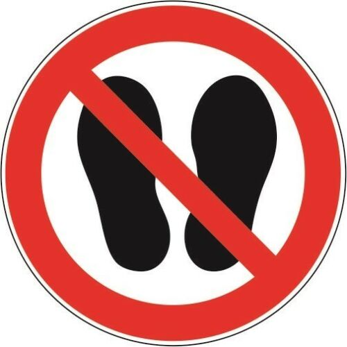 Aufkleber Verbotsschild Betreten der Fläche Verboten 10 cm Sticker