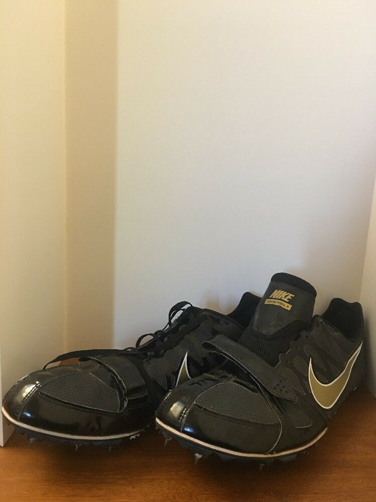 Nike Zoom Rival S Sprint Spikes Men 12 Black Gold Camo Bottom 456812-071 Shoes L  Cheap and beautiful fashion