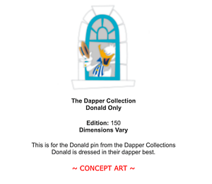 Donald Only LE 150 D23 Expo 2019 Dapper Collection Pin