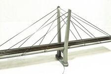 "HO Scale 40"" Two Lane Cable Stay Suspension Train Bridge - Kit"