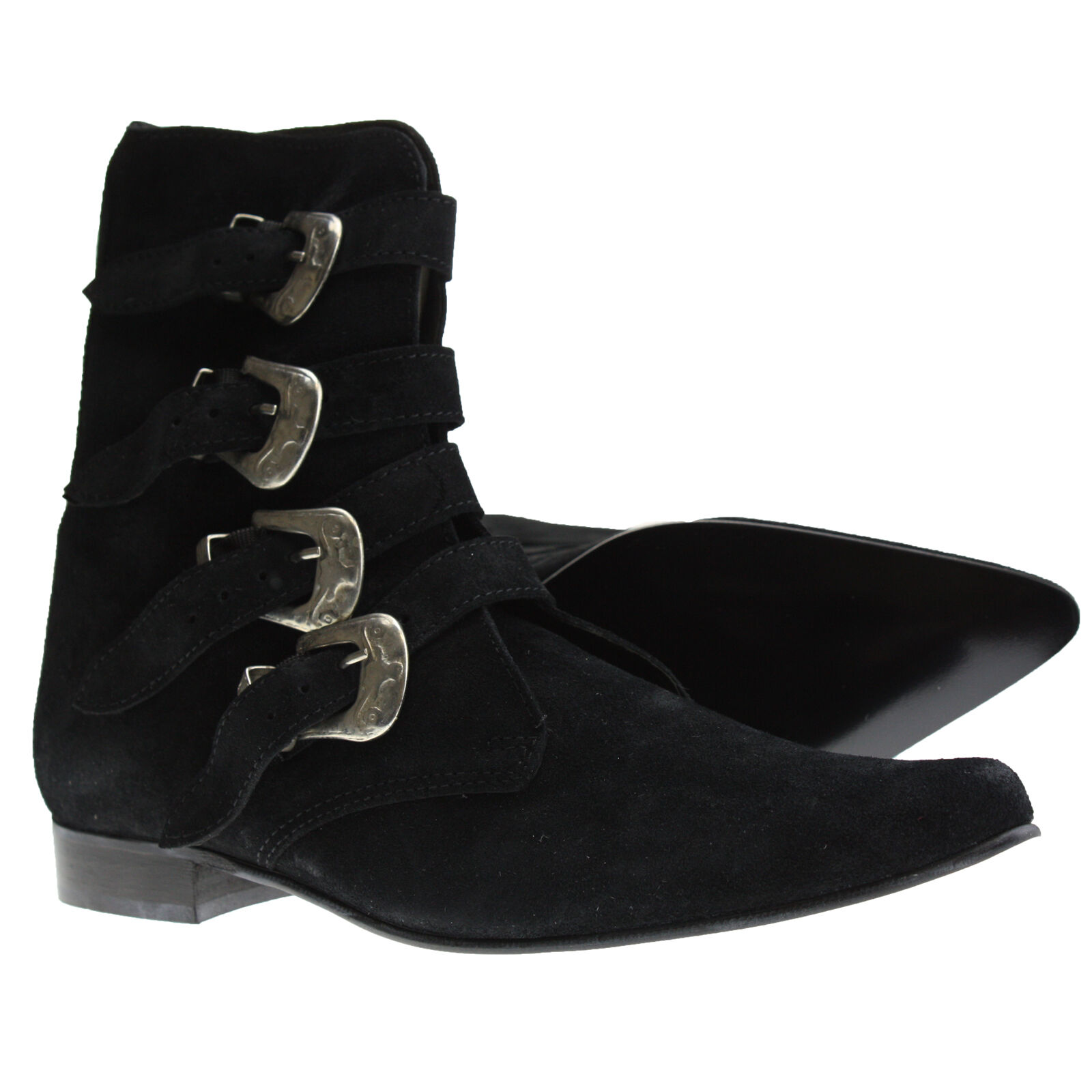 winkelpiker 4 fibbie Suede Nero,Gli stivali da donna classici sono popolari, economici e hanno dimensioni