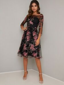 CHI-CHI-DRESS-FLORAL-EMBROIDERED-MIDI-SIZE-ALL-SIZES