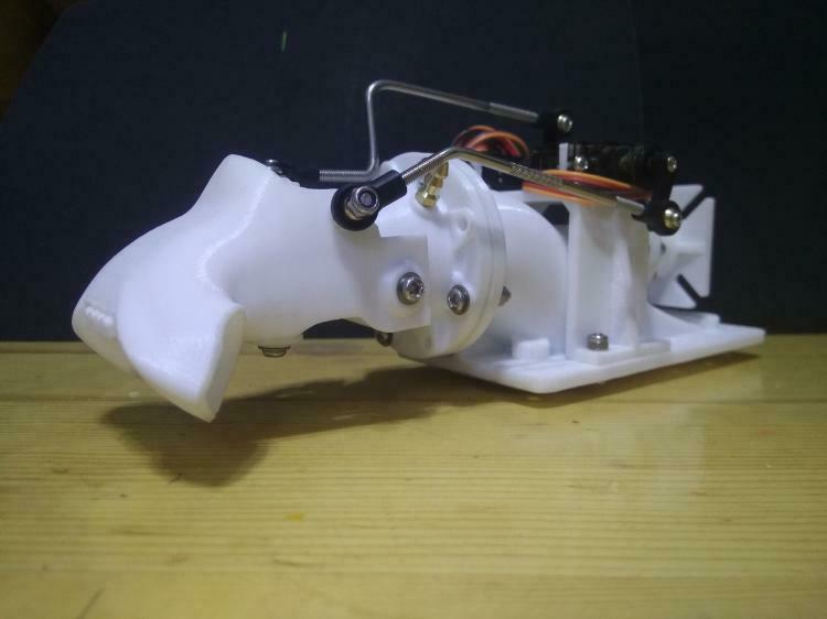 Propulsor De Bomba De Agua Motor de acoplamiento inyector bomba de Chorro Pulverizador kit para RC Jet boat
