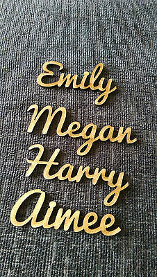Wooden Place Names Wedding Hen Dinner Party Favour personalised  2 for 1 BOGOF