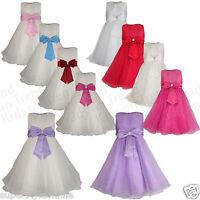 Flower Girl Dress Bridesmaid Party Kids Formal Wear 2 3 4 5 6 7 8 9 10 11 12 New