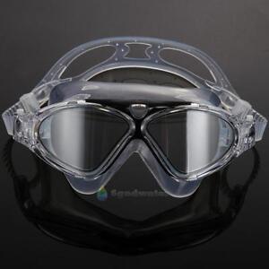 Professional-Adult-Swim-Goggles-Glasses-Anti-fog-UV-Protection-Black-Adjustable