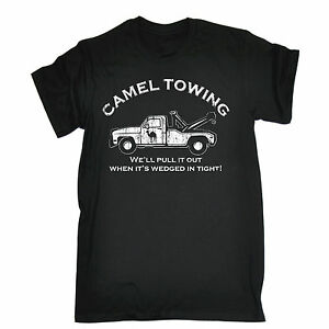 Funny-T-Shirts-CAMEL-TOWING-T-SHIRT-tee-rude-offensive-naughty-birthday-gift