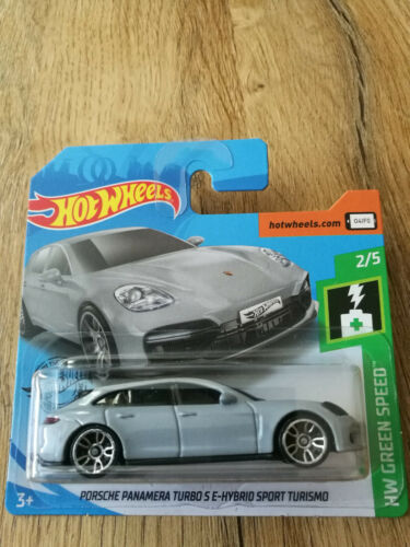 PORSCHE PANAMERA TURBO S E-HYBRID SPORT HW Green Speed 1//5★ ★Hot Wheels 2019