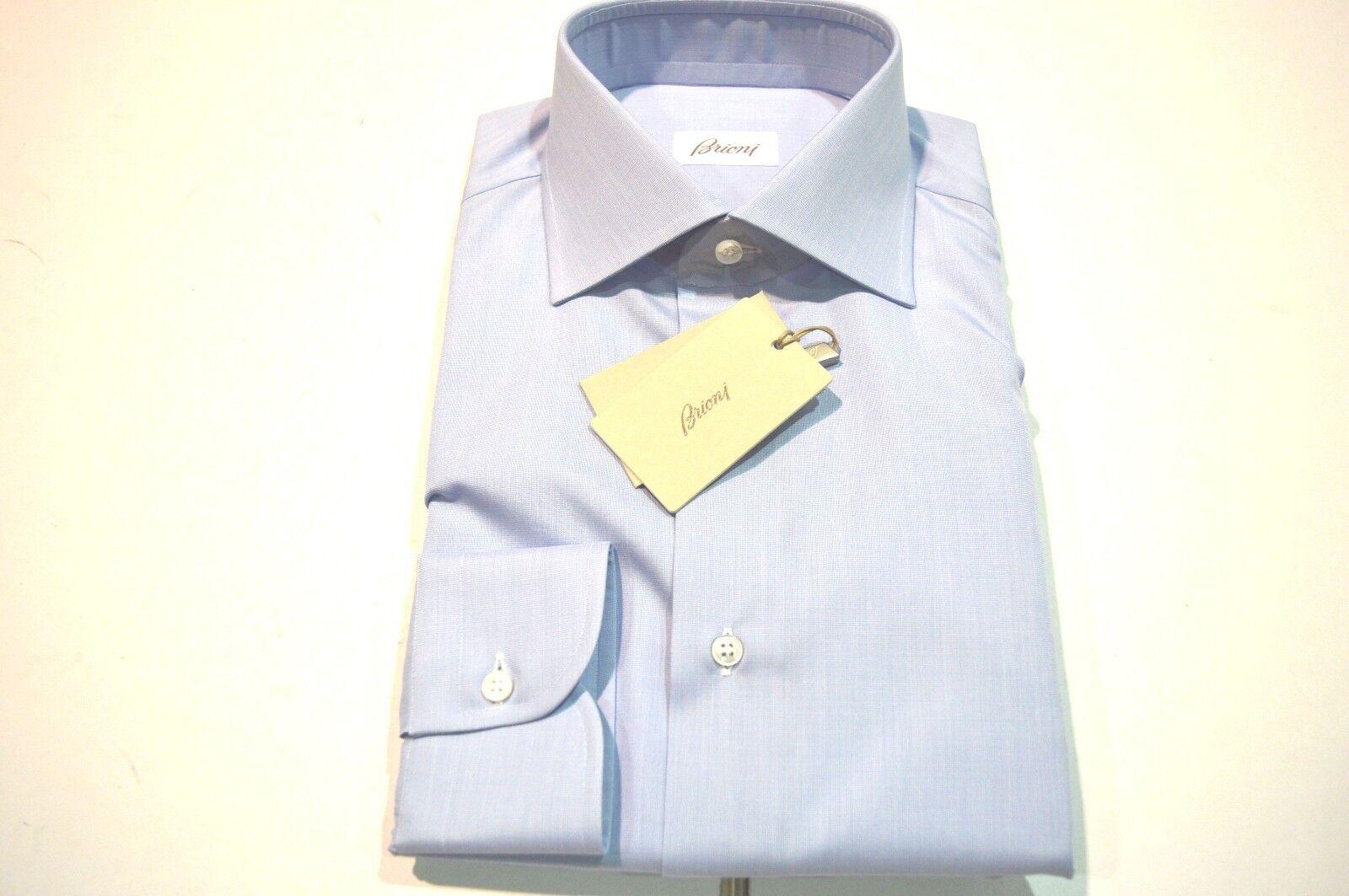 NEW  BRIONI Dress SHIRT 100% Cotton Size 16 Us 41 Eu  (Store Code SE24)