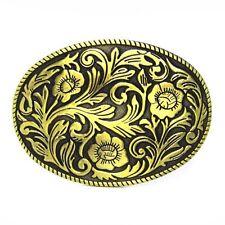 Rodeo Engraved Flower Floral Belt Buckle Western Cowgirl Boucle de Ceinture Gift