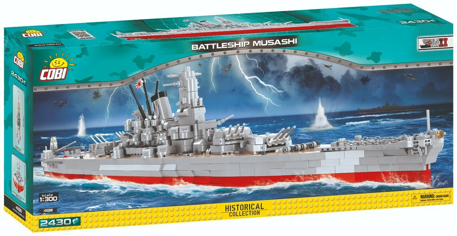 COBI battleship  Musashi    4811   2430 blocks WWII Japanese ship Small Army