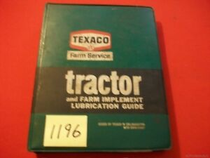 VINTAGE-TEXACO-TRACTOR-amp-FARM-IMPLEMENT-LUBRICATION-GUIDE-COLLECTIBLE-HTF-BINDER