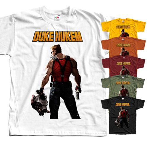 COMPUTER GAME All sizes S-5XL Duke Nukem V3 T-Shirt YELLOW,BLACK,BRICK,OLIVE