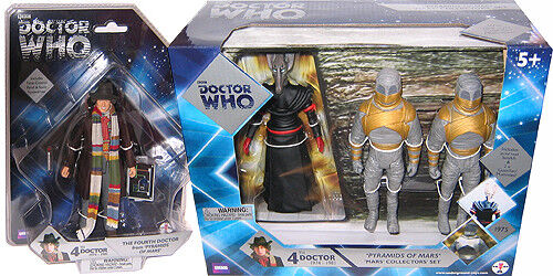 """Sutekh and 2 Mummies Action Figures 5/"""" Doctor Who Pyramids of Mars 4th Dr"""