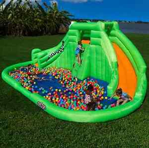 Image Is Loading Outdoor Backyard Inflatable Water Park Kids Wet Pool