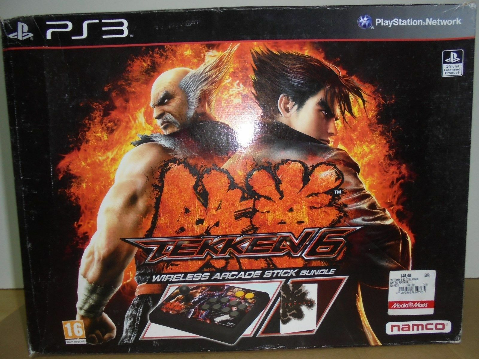 TEKKEN 6 WIRELESS ARCADE STICK BUNDLE  PS3  PlayStation  NAMCO - NEW