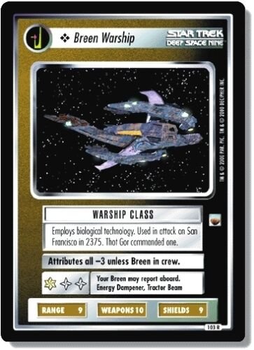 Star Trek CCG TwT Trouble with Tribbles Breen Warship 103R