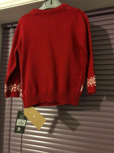 new Red Primark Christmas Wishes Kids Jumper 9-12 Months