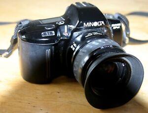 Analog-Spiegelreflexkamera-Minolta-Dynax-SPxi-mit-Powerzoom-AF-35-80mm-gebraucht