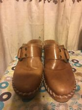 Frye Boots Womens Tan Leather Clogs Size 7m