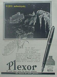 PUBLICITE-PLEXOR-STYLO-PLUME-ENCRE-PARKER-QUINK-MARJOLLIN-DE-1941-FRENCH-AD-PUB