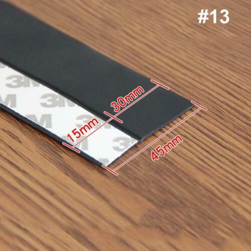 5M Door Bottom Self Adhesive Weather Stripping Silicone Rubber Seal Sweep Strip*