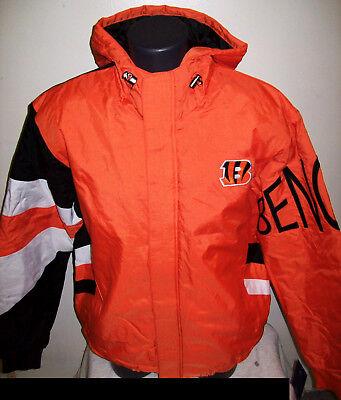 ba67f0d8 CINCINNATI BENGALS KNOCKOUT Hooded Winter Jacket S, M, L, XL, 2X ...