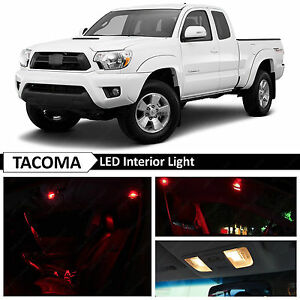 9x red interior led lights bulb package kit for 2005 2015 - Toyota tacoma led interior lights ...