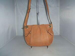 Vince-Camuto-Handbag-Cristina-Leather-Cross-Body-Shoulder-Bag-Purse-138-Brown