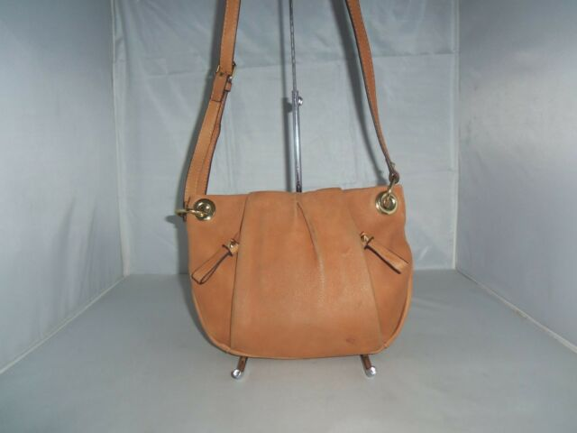 Vince Camuto Handbag, Cristina Leather Cross-Body Shoulder Bag, Purse $138 Brown
