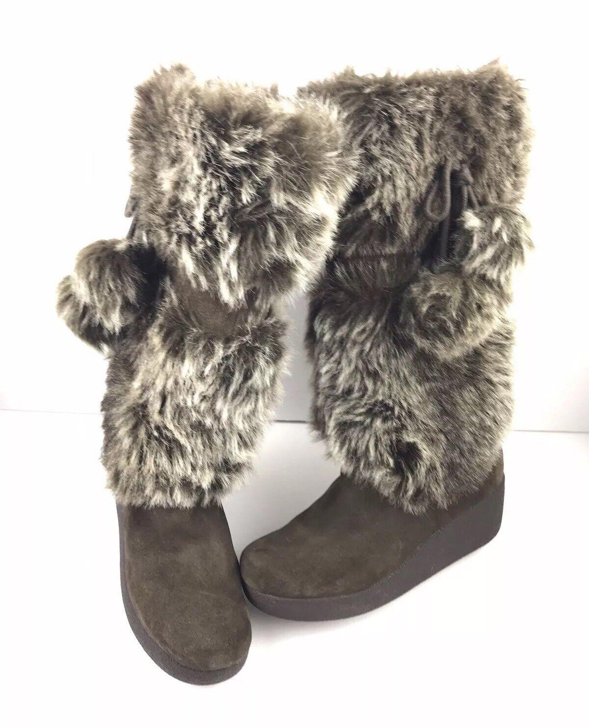 Report Signature Women's Brown Suede Snow Boots Size 6.5 EUC