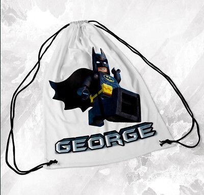 Personalised Drawstring Bag Any Name Superman Lego Swimming School Nursery PE