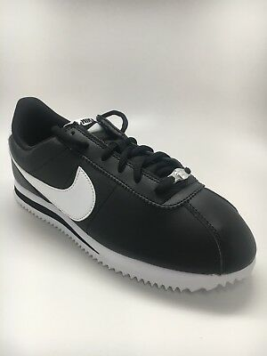 001 Boys Athletic Shoes Black//White Multi Sizes Nike Cortez Nylon PS