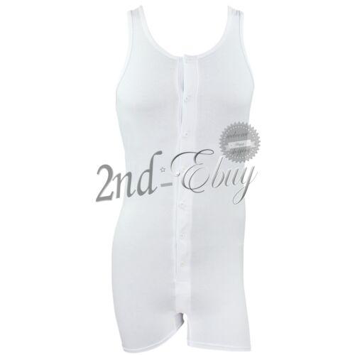 Men/'s Tank Top One-Piece Stretch Body Justaucorps Boxer Sous-Vêtements Pyjamas