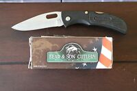Bear & Son 402 3-5/8 Black Zytel Lockback Pocket Knife Made In Usa