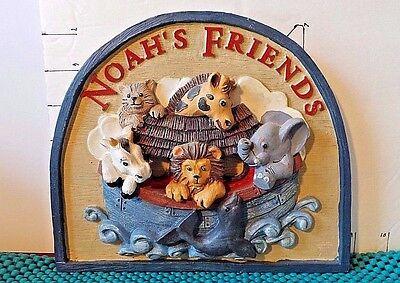 """Noah's Ark, Decorative Wall Plaque, """"Noah's Friends"""",1994, Figi Graphics"""