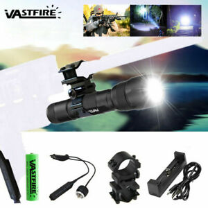 VASTFIRE Tactical White XML T6 LED Flashlight Torch Camping Lamp 1 Mode Light