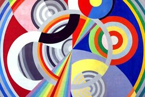 Robert-Delaunay-Vintage-French-Abstract-Art-CANVAS-PRINT-Rythm-2-poster-24-034-X18-034