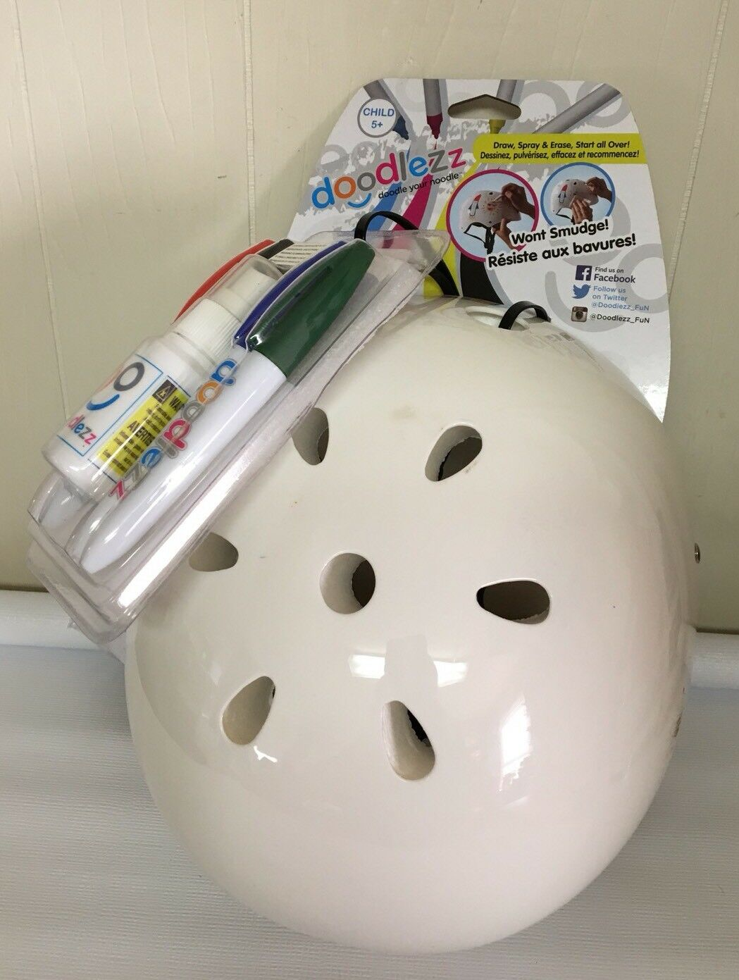 Doodlezz Helmet  Doodle Your Noodle Whiteboard Dry Erase S  Bike Kids Predect  manufacturers direct supply