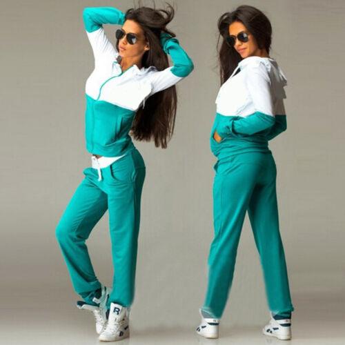 Hose Fitnessmode Damen Trainingsanzug Jogginganzug Sportanzug Pullover Sweater