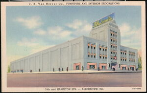 ALLENTOWN PA J B Van Sciver Furniture Company Vintage Town View Old Postcard