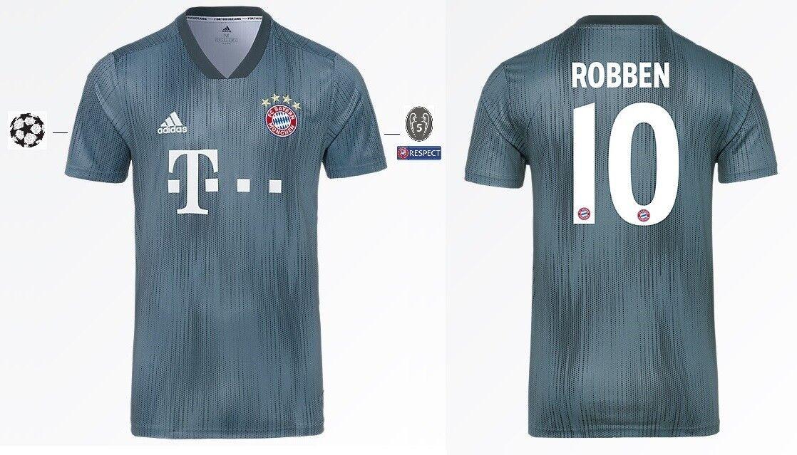 Trikot Adidas Adidas Adidas FC Bayern 2018-2019 Third - Robben 10  Champions League 8bf93a