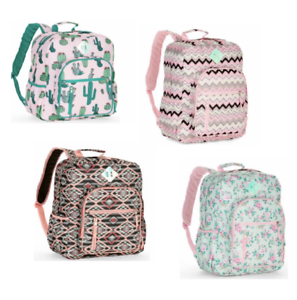 fc975a4639 Image is loading No-Boundaries-Girls-Big-School-Backpack-Cactus-Geometric-
