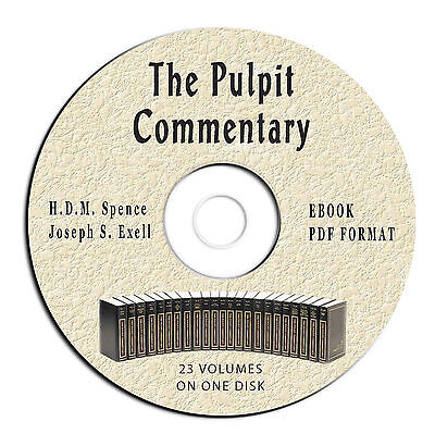 Pulpit Commentary-ALL VOLUMES-Spence-Exell-eBook on CD PDF-Christian Bible  Study 783764374531 | eBay