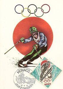 CP-MAXIMUM-PREMIER-JOUR-JEUX-OLYMPIQUES-HIVER-1972