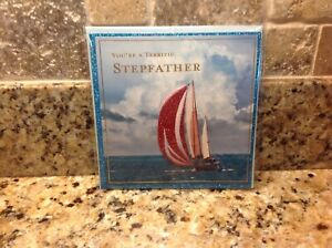 Like PAPYRUS Greeting Card...Glitter Sailboat Ocean...Birthday....Stepfather
