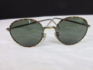 177e22f50b Image is loading Vintage-Green-Tinted-Lens-Sunglasses-Brown-Tortoiseshell -Metal-